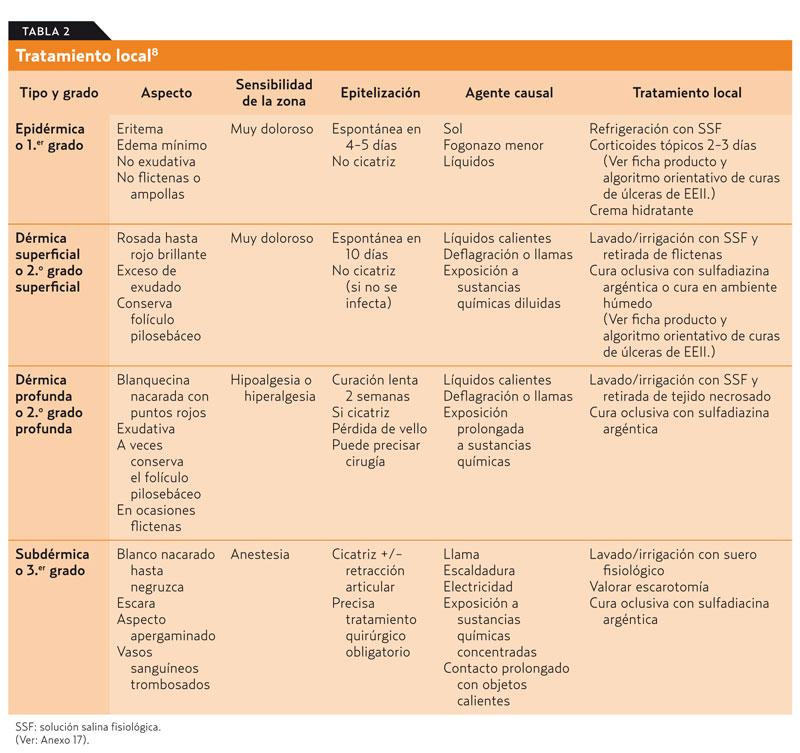 Quemadura quimica piel pdf